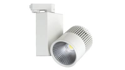 LED Schienenstrahler, 15W, weiß Lieferung inkl. LED Konverter & Schienenadapter