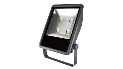 LED Fluter, 205W, silber/grau inkl. 50cm H05RN-F 3G0.75mm² Anschlussleitung & Montagebügel
