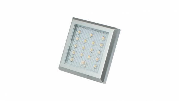 LED Unterbauspots, 1,25W, silber / grau inkl. 1,8m Zuleitung mit AMP-Stecker