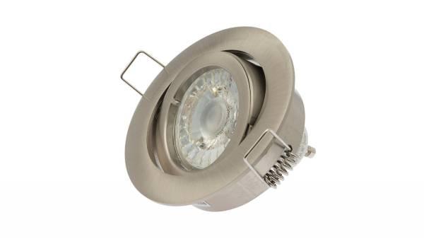 LED Einbauleuchten, max. 50W, matt-chrom