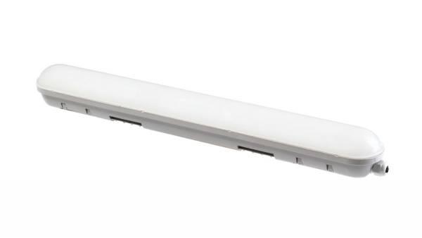LED Wannenleuchte, 14W, silber/grau ohne weiterführende Verkabelung