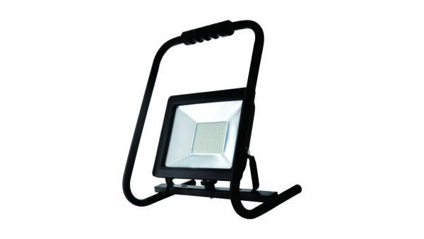 LED Arbeitsleuchte, 50W, schwarz inkl. 150cm H05RN-F 3G0.75mm² Anschlussleitung mit Stecker & Handge