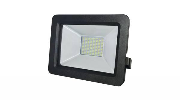 LED Fluter, 20W, schwarz inkl. H05RN-F 3G0.75mm² Anschlussleitung & Montagebügel