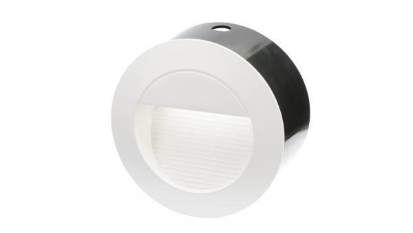 LED Einbauleuchten, 1,5W, weiß inkl. 2m Zuleitung mit Aderendhülsen und Wandeinbauring