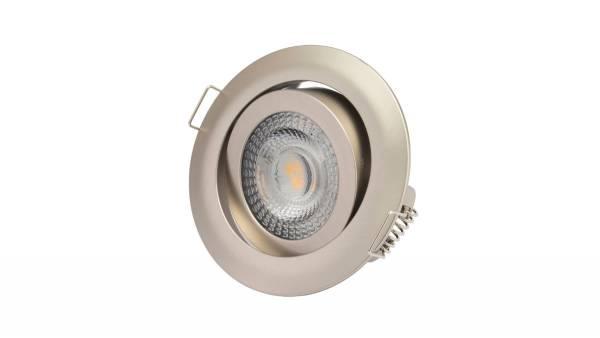 LED Einbauleuchten, 5W, matt-chrom inkl. 15cm Zuleitung mit Aderendhülsen