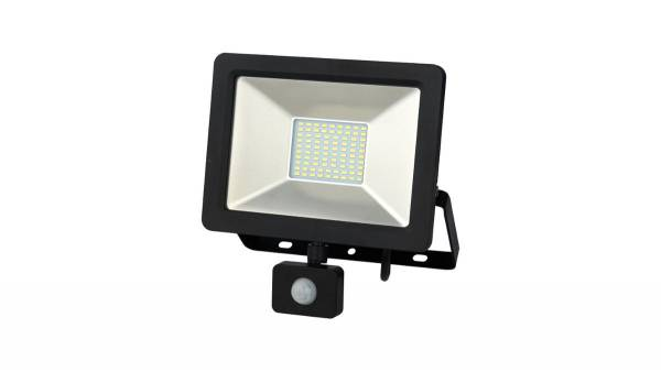 LED Fluter, 30W, schwarz inkl. 150cm H05RN-F 3G0.75mm² Anschlussleitung mit Stecker & Erdspieß