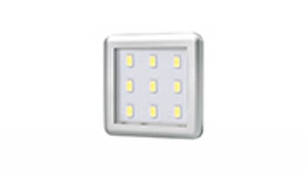 LED Unterbauspots, 2,5W, silber / grau inkl. 1,8m Zuleitung mit Mini-Stecker