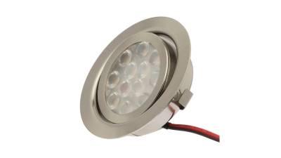 LED Einbauleuchten, 3W, matt-chrom inkl. 1,8m Zuleitung mit AMP-Stecker