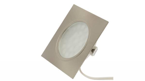 LED Einbauleuchten, 1,65W, matt-chrom inkl. 1,8m Zuleitung mit AMP-Verteiler