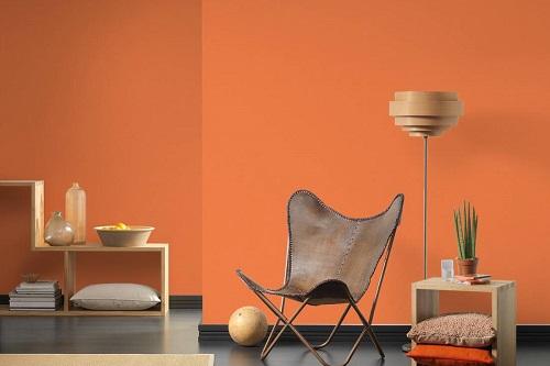 Wandfarbe Orange