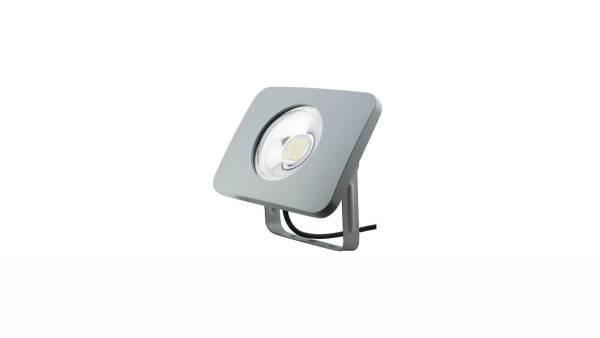 LED Fluter, 10W, silber inkl. 50cm H05RN-F 3G1.0mm² Zuleitung & Montagebügel
