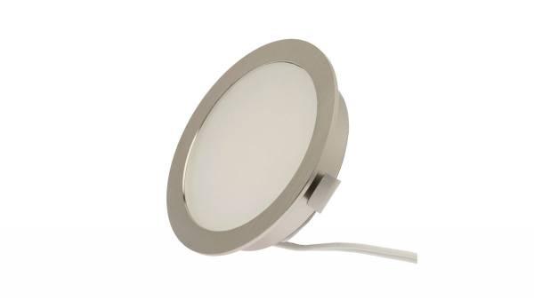 LED Einbauleuchten, 3W, matt-chrom inkl. 1,8m Zuleitung mit Mini-Stecker