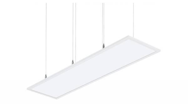 LED Pendelleuchte, 40W, weiß Lichtverteilung: 70/30, inkl. Montage-Baldachin (LxBxH 240x74x40mm)