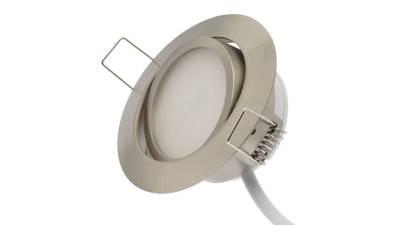 LED Einbauleuchten, 5W, matt-chrom inkl. 20cm Zuleitung mit Aderendhülsen