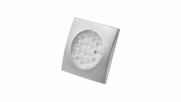 LED Unterbauspots, 1,25W, silber inkl. 1,8m Zuleitung mit AMP-Stecker