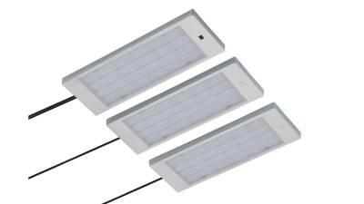 LED Unterbauset, 4W, silber / grau inkl. LED Konverter m. Mini-Verteiler u. 1,8m Zuleitung