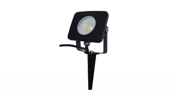 LED Gartenleuchte, 10W, schwarz inkl. 150cm H05RN-F 3G0.75mm² Anschlussleitung mit Stecker & Erdspie