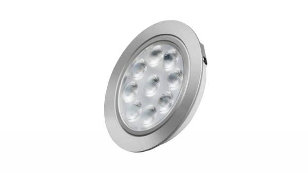 LED Einbauleuchten, 1,65W, matt-chrom inkl. 1,8m Zuleitung mit AMP-Stecker