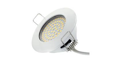 LED Einbauleuchten, 3,5W, weiß inkl. 15cm Zuleitung mit Aderendhülsen