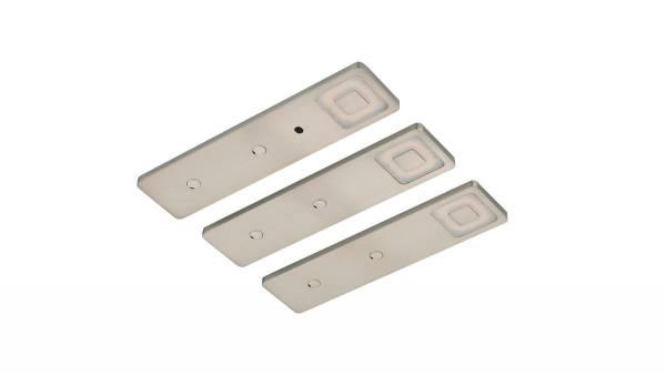 LED Unterbauset, 4,5W, Edelstahl - Optik inkl. LED Konverter m. Mini-Verteiler u. 1,5m Zuleitung