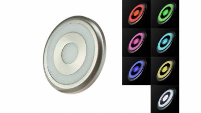 LED Unterbauspots, 1,25W, matt-chrom inkl. 1,8m Zuleitung mit 4-Pin RGB Stecker